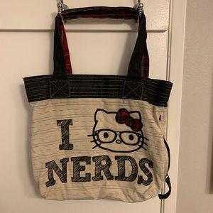 Hello Kitty I love nerds tote